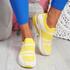Jige Yellow Mesh Sneakers