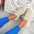 Mizzy Beige Knit Sneakers