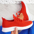 Mizzy Red Knit Sneakers