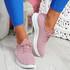 Mizzy Pink Knit Sneakers
