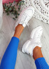 Kyme White Sport Sneakers