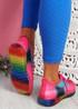 Rufo Fuchsia Rainbow Sneakers