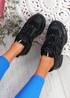 Dijy Black Chunky Sneakers