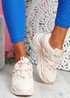 Dijy Pink Chunky Sneakers