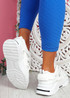 Dijy White Chunky Sneakers