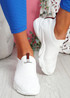 Vidy White Knit Trainers