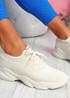 Elen Beige Chunky Knit Sneakers