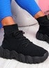 Cerra Black Sock Sneakers