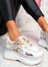 Posty White Chunky Flatform Trainers