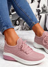 Finy Pink Knit Sport Trainers