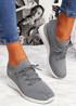 Jumma Grey Knit Low Heel Sneakers