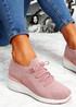 Jumma Pink Knit Low Heel Sneakers