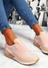 Nancy Pink Glitter Sole Trainers