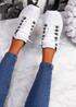 Ipy White Black Chunky Sport Trainers
