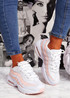 Ipy White Pink Chunky Sport Trainers