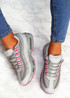 Judy Grey White Sport Sneakers
