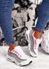 Judy White Grey Sport Sneakers