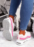 Judy White Pink Sport Sneakers
