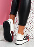 Rivva Red Snake Skin Pattern Trainers