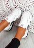 Ymma White Wedge Sneakers