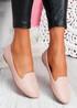 Veny Pink Weave Ballerinas