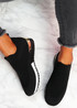 Nyve Black Knit Trainers
