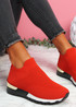 Nyve Red Knit Trainers