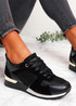 Onne Black Lace Up Trainers