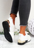 Onne White Lace Up Trainers