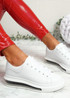 Kiddy White Lace Up Plimsolls
