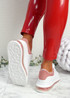 Kiddy White Pink Lace Up Plimsolls