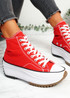 Nuve Red Flatform Trainers