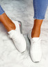 Vedy White Knit Trainers