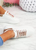 Hezzo Rose Gold Croc Pattern Trainers