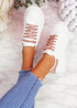 Hezzo Pink Croc Pattern Trainers