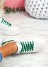 Hezzo White Green Croc Pattern Trainers