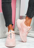 Mimma Pink Chunky Trainers