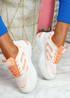 Huve Orange Chunky Sneakers