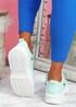 Huto Green Platform Sneakers
