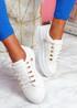 Huto White Platform Sneakers