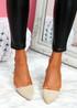 Koza Apricot Low Block Heel Pumps