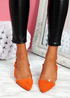 Koza Orange Low Block Heel Pumps