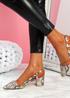 Koza Pink Low Block Heel Pumps