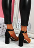 Amma Camel High Block Heel Pumps