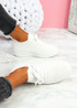Pinna White Knit Trainers