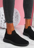 Mabba Black Knit Running Trainers