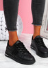 Habby All Black Glitter Trainers