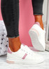 Juwe White Pink Platform Glitter Trainers