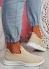 Stonna Beige Knit Slip On Sneakers
