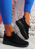Pobba All Black Knit Running Trainers